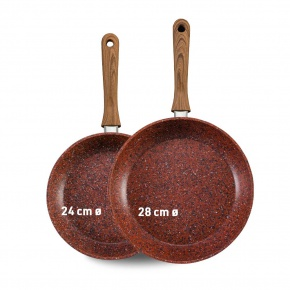 Livington Copper & Stone Pan 24 cm + 28 cm